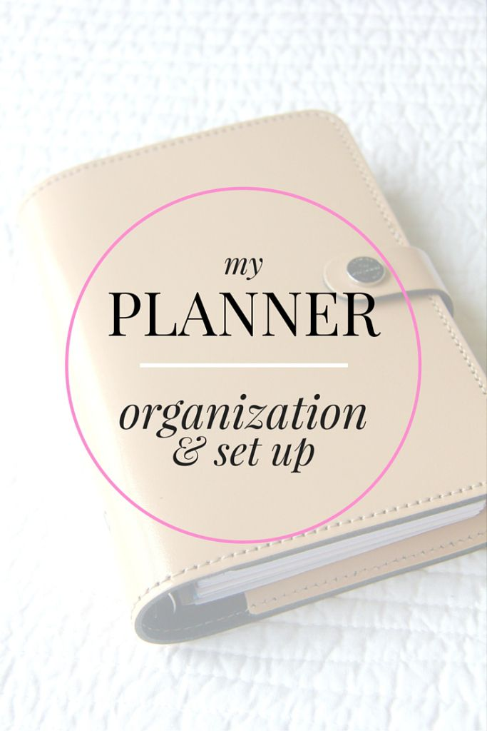 Planner Organization // Fall 2015