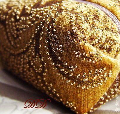 Винтажные косметички - бисерная вышивка - вышитая косметичка,косметичка ручной работы