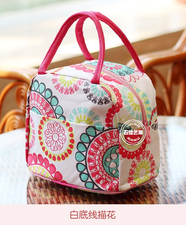 2014 nueva bolsa de almuerzo impresiones de algodón neopreno oxford tela bolso bolsa de picnic impermeable cuadro de espesamiento de las mujeres del almuerzo térmica en Bolsas de Comida de Bolsos y Maletas en AliExpress.com | Alibaba Group