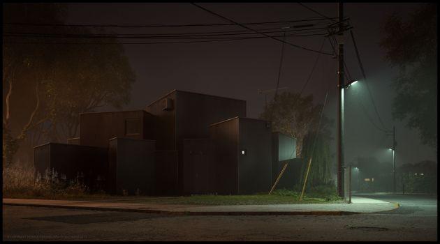 CGarchitect - Professional 3D Architectural Visualization User Community | House O - Jun Igarashi Architects - Night