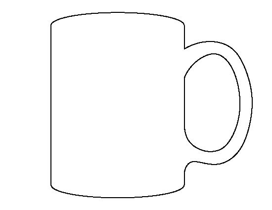mug pattern use the printable outline for crafts creating stencils scrapbooking and more. Black Bedroom Furniture Sets. Home Design Ideas