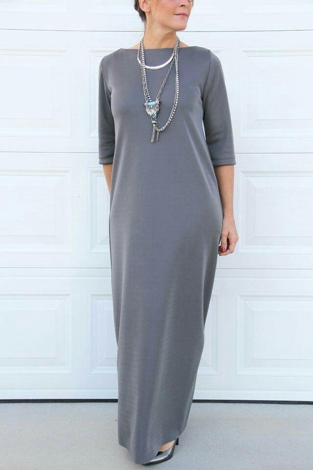Платье из трикотажа без выкройки
