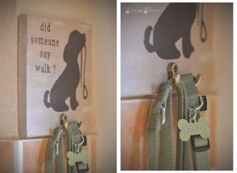 dog leash holder , Fali fa kép akasztóval, kutyapóráz tartó, Otthon, lakberendezés, Falikép, Meska