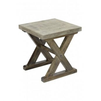 Concrete Side Table - CDI - Available at Warehouse 74