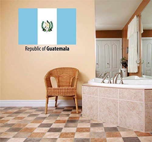 Design with Vinyl Flag 156-403 As Seen Decor Item Republic of Guatemala Flag Country Pride Symbol Si