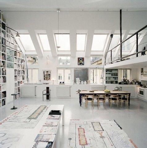 .: White Spaces, Art Studios, Studios Spaces, Open Spaces, Offices Spaces, Interiors Design, Work Spaces, Workspaces, Loft Spaces