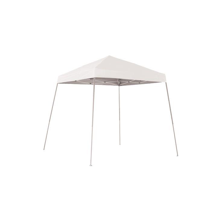 Shelter Logic 8' x 8' Sport Slant Leg Pop-Up Canopy - White