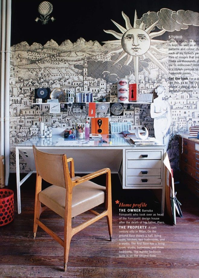 Luxurious Living FORNASETTI wallpaper in his own