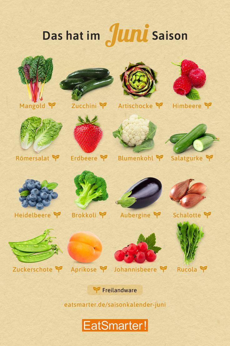 Saisonkalender Juni Obst & Gemüse   Saisonkalender obst und gemüse ...