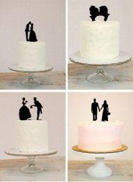 Czarne figurki na tort - Torty i słodkości