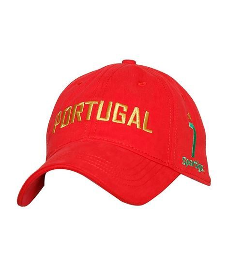 Sportigo Portugal Football Cap - Red | Big range of all types of caps and hats, sports cap like football caps at one place, Expro Shopping