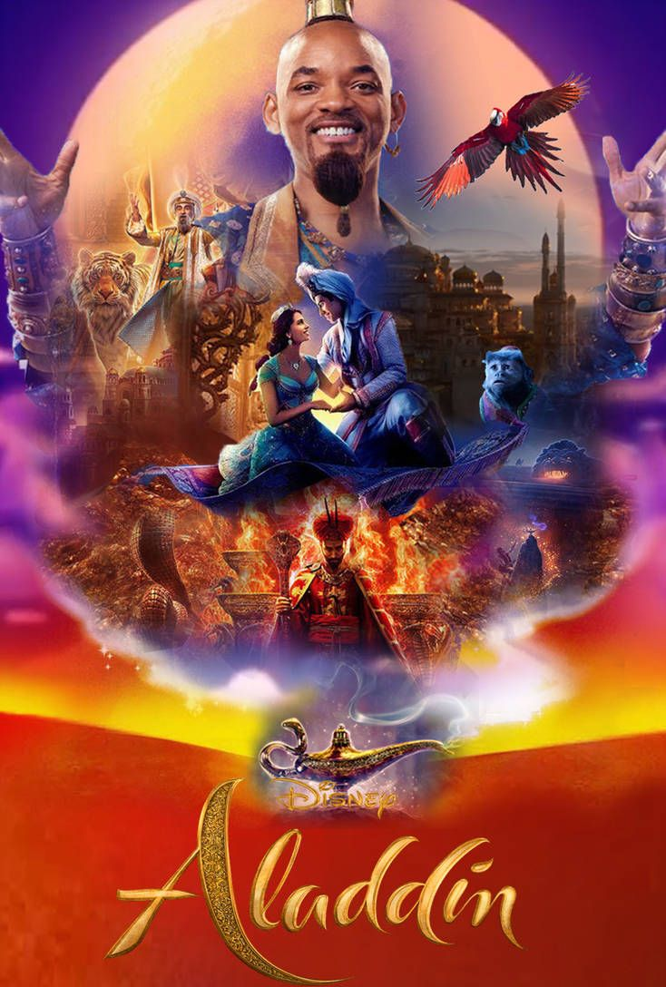 Aladdin Poster 2019 Disney Live Action Movie 2019 Art PrintA4 A3 A2 A1