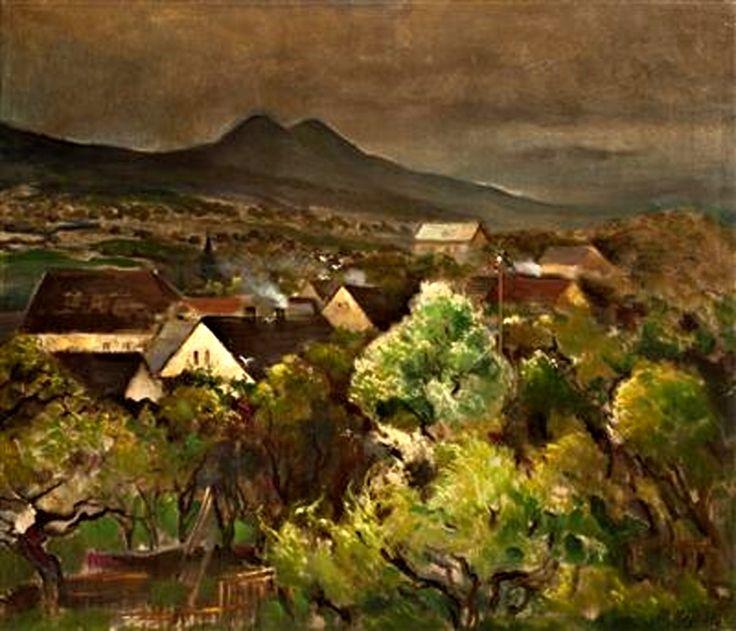 Motiv z Českého středohoří | olej, plátno, 55 × 65 cm