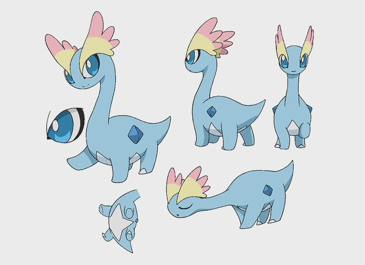 """Model sheets of fossil #pokemon Tyrunt and Amaura. #settei"""