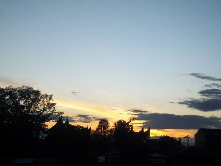 sunrise at Bukittinggi, West Sumatra