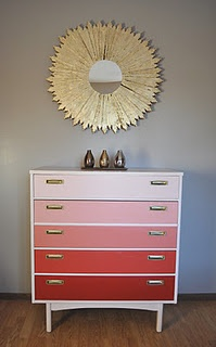 Just finished this sunburst mirror AND dresser - I must say, they look good together! :): Multi Colors Dressers, Fun Ideas, Chamber Ideas, Varig Colors, Boys Colors