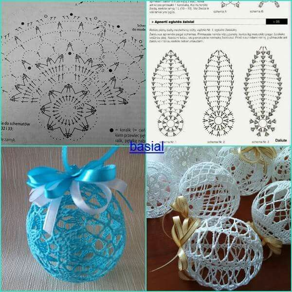 Delicadas esferas a crochet