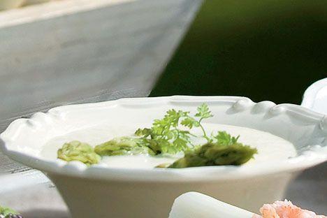 Opskrift på Aspargessuppe fra - Hjemmet
