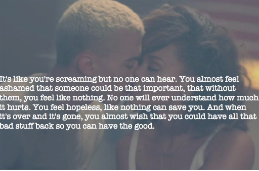 we found love in a hopeless place...UGH #exactly to the 10th power