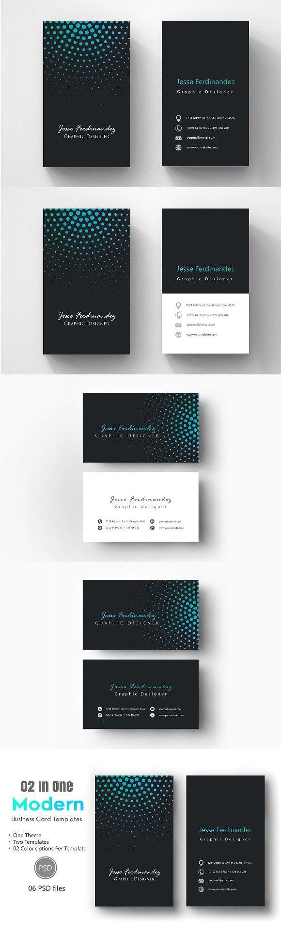 Modern Business Card Template-012