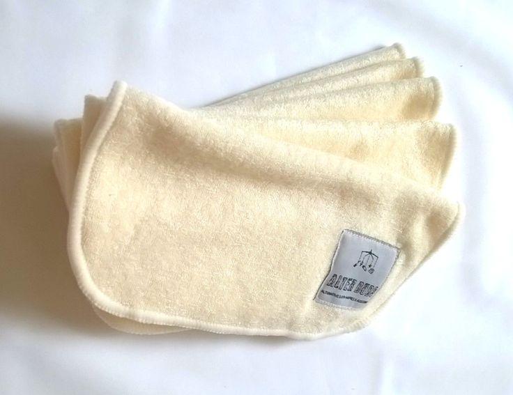 Bamboo fibre washable baby wipes.