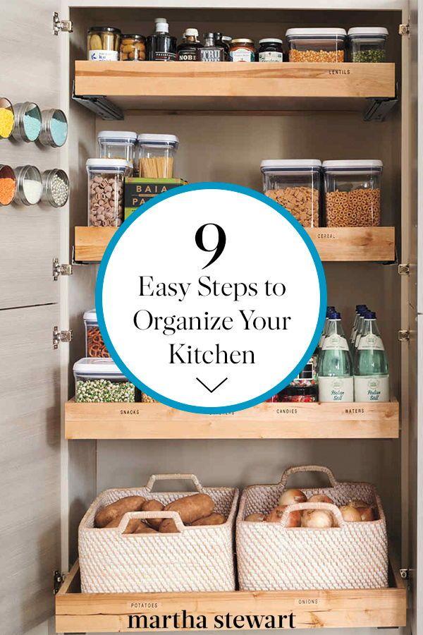 Organize Your Kitchen Cabinets In Nine Easy Steps Kitchen Hacks Organization Style Pantry Kitchen Cabinets