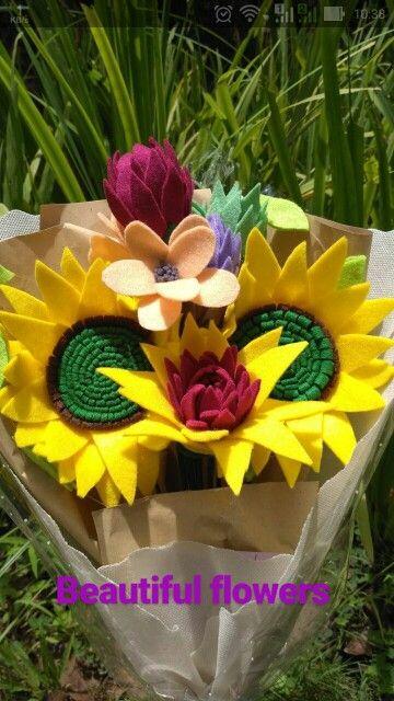 Felt Sunflower