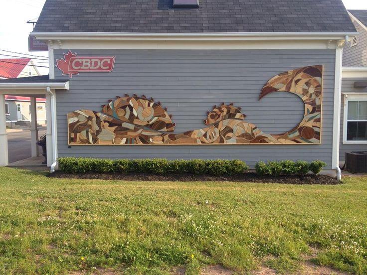 25 foot scrap wood mural