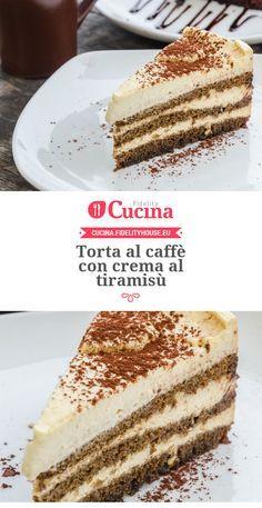 #Torta al #caffè con crema al #tiramisù