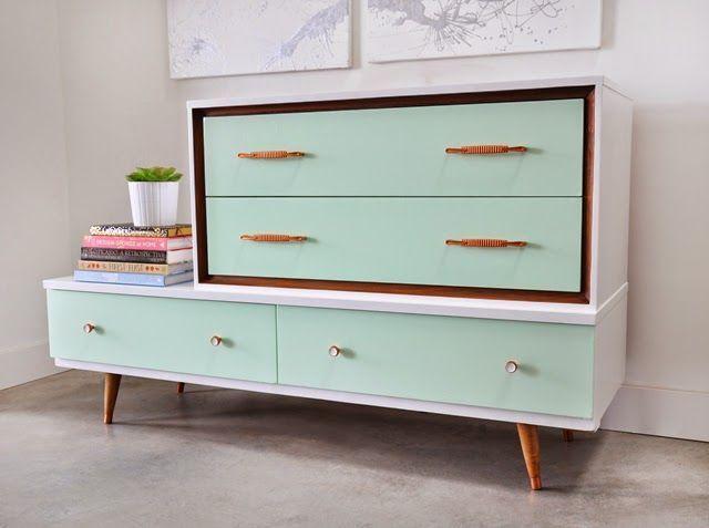 Poppytalk: Before and After: Mid-Century Asymmetrical Dresser – – #Asymmetrical …
