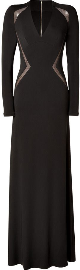 Elie Saab Sheer Panel Gown in Black on shopstyle.com