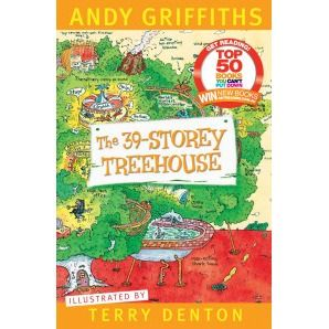 The 39-Storey Treehouse Andy and Terry's amazing treehouse has 13 new levels including a chocolate waterfall, a non-erupting active volcano, an opera house, a baby-dinosaur petting zoo, Andy and Terry's Believe it or Else! museum, a not-very-merry merry-go-round, a boxing elephant called the Trunkinator, an X-Ray room, a disco with light-up dance floor, the world's scariest roller-coaster and a top secret 39th level that hasn't even been finished yet.