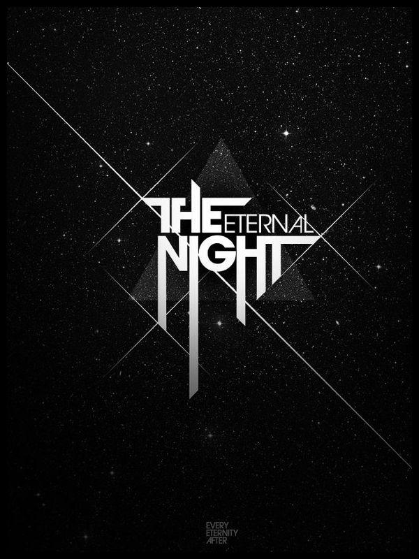 Diseño con tipografías. Blanco y negro. estrellas. lineas blancas