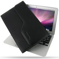 PDair Leather case for Apple New MacBook Air 11''2010 Version - Horizontal Pouch Type (Black)
