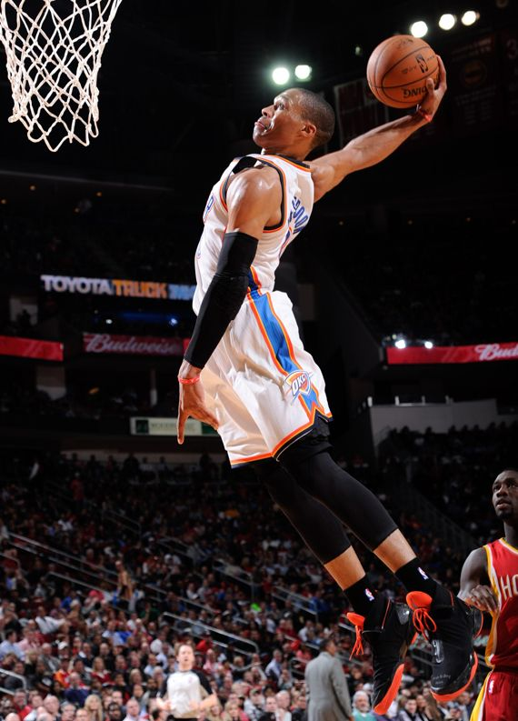 NBA Oklahoma City Thunder Russell Westbrook wearing Air Jordan XX8 Black/Orange PE