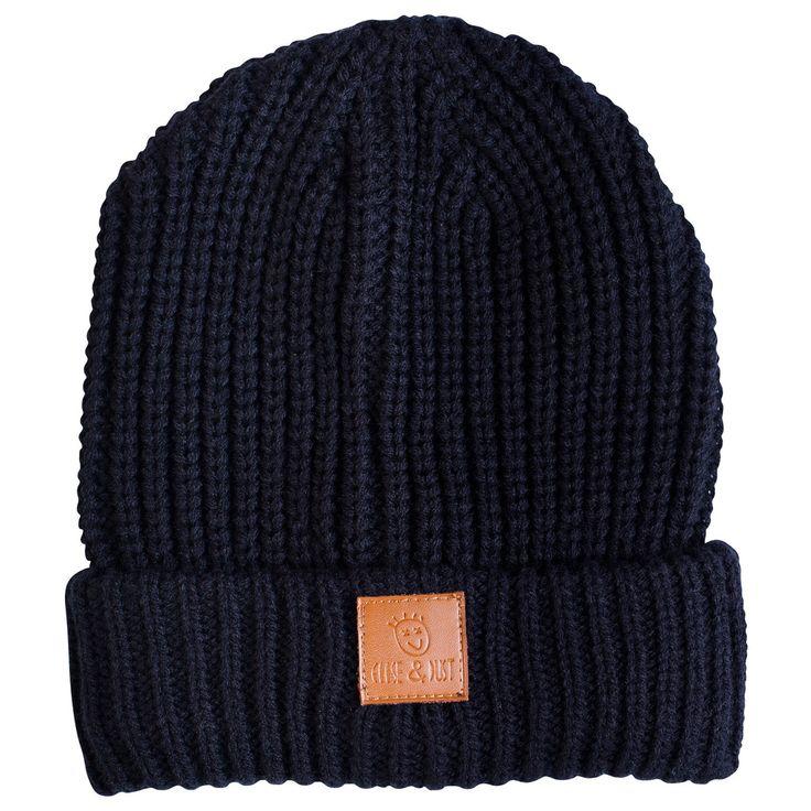 Kids winter fashion Black Whaked Beanie