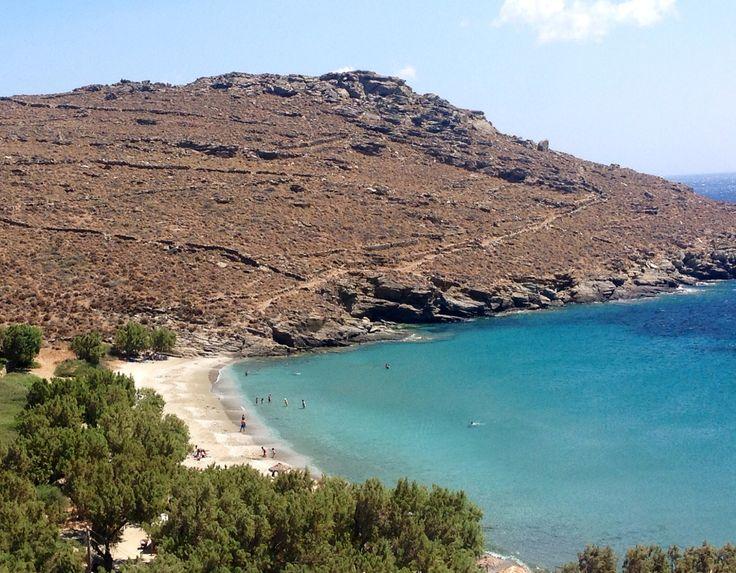 Tinos kalyvia beach