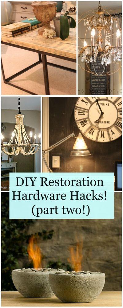 DIY Restoration Hardware Hacks! (part two!) • Ideas and tutorials for making Restoration Hardware Knock Offs for a lot less!
