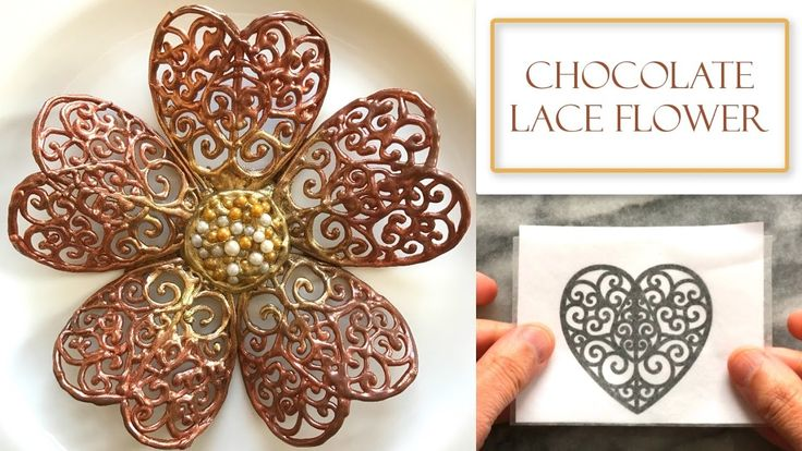 3740 best flower food cake tutorials images on pinterest for Chocolate lace template