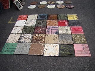 My current project...tin ceiling tile headboard! :)
