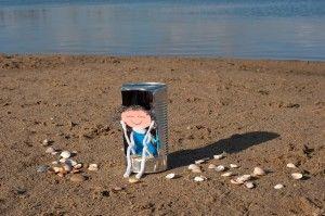 Luni in haar strandstoel