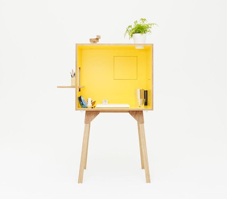 Un petit bureau en bois design, pratique et coloré ! - DecoCrush
