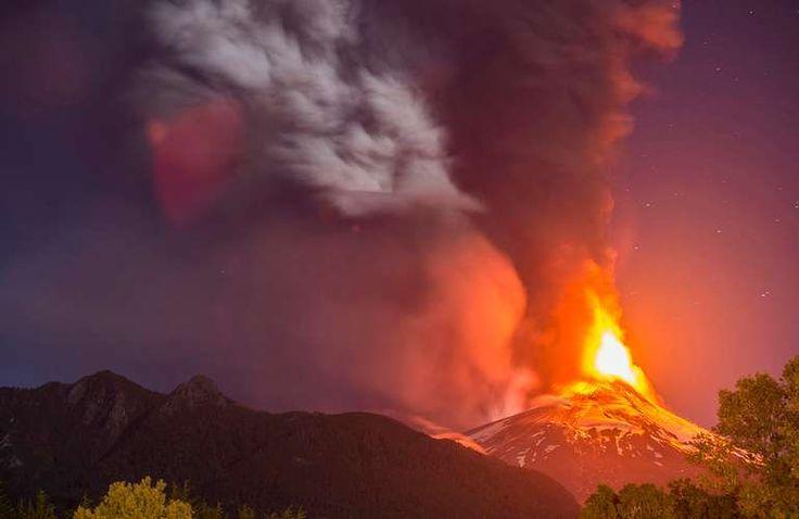 Revive cómo fue la violenta erupción del Volcán Villarrica - Terra Chile- Marzo 2015