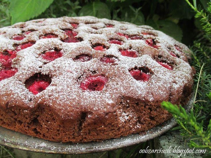 Wyśmienite ciasto z dla każdego wielbiciela malin i czekolady