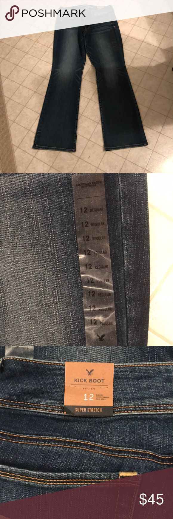 American Eagle super stretch kick boot jeans Brand new with tags attached, 12R American Eagle Outfitters Jeans Boot Cut