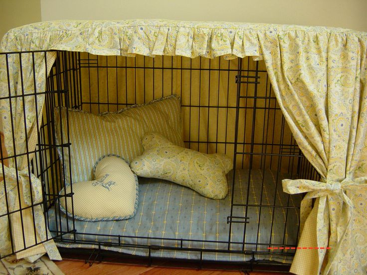 Another possible way to help the looks of our dog crate.