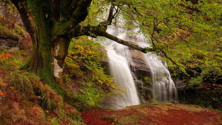 waterfall autumn nature hd wallpapers download
