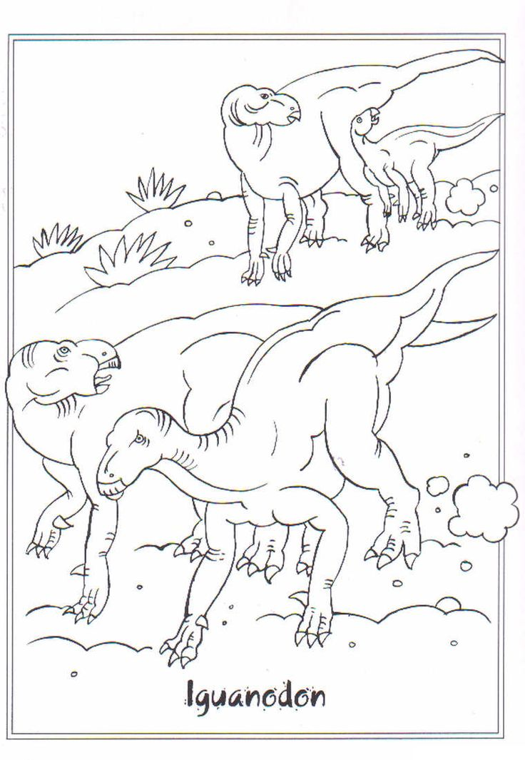 coloring page Dinosaurs 2 - Iguanodon