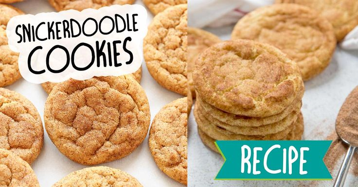 Super soft and full of cinnamon - this Snickerdoodle recipe is sure to be a hit! #recipe #food