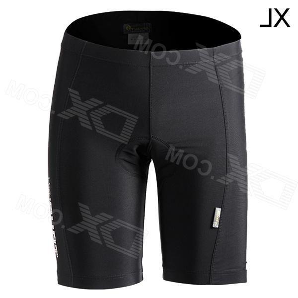 Spakct Outdoor Cycling Polyamide + Elastane Shorts for Men - Black (Size XL)
